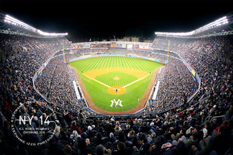 Limited Edition Artwork Yankee Stadium At Night American Picture Frame