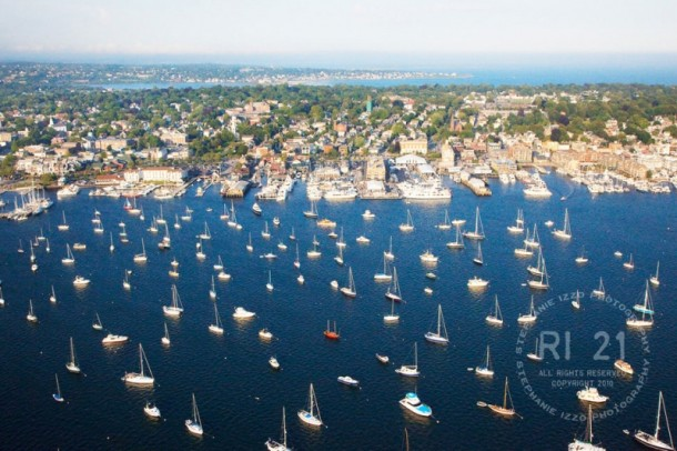 Newport Harbor Aerial