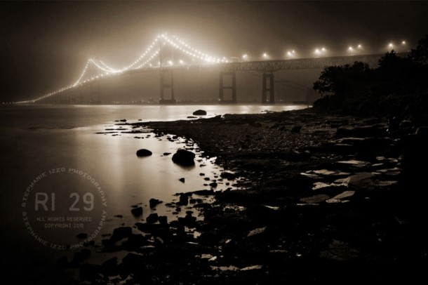 Newport Bridge At Midnight